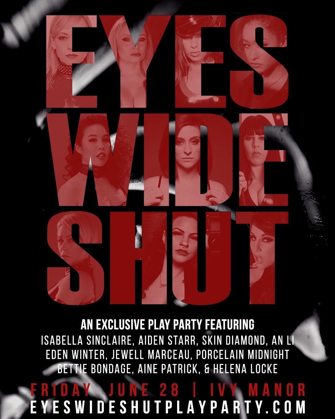 Eyes Wide Shut Femdom BDSM play party in Los Angeles